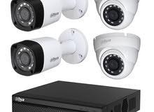 كاميرا عدد 4 dahua 2 megapixel شامل التركيب ب 150 دينار