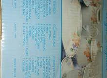 طقم صيني مستورد 45 قطعة بالكرتونة .