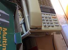 سماعات كمبيوتر وأجهزت مكبره وتلفونات جديده ومستعملة 6تلفونات و4سماعات وجهاز لف اشرطه