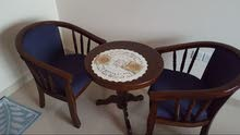 Coffee table with two chairs