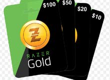 بطاقات Razer Gold بأسعار مميزة