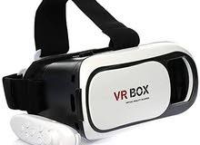 أرخص نظارة واقع إفتراضى VR box 3D بريموت كنترول أبيض فى أسود بـ70 جنيه بس