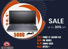 DELL Latitude E6430رمات : 8 جيجا DDR3 // هارد : 500 SATA من اقوي الموديلات