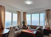 دبي شارع شيخ زايد غرفة وصالة مفروشة سوبر لوكس - ايجار شهري شامل
