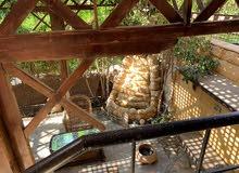 شقة مفروش للايجار في مدينة الرحاب ارضي بحديقة
