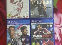 للبيع 4 سيديات بلايستيشن فور /4cd PlayStation four