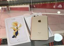 iPhone 6s+ 64g مستعمل بحالة الوكالة  لون ذهبي اصلي