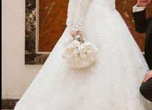 فستان زفاف حاله ممتازه مقاسM