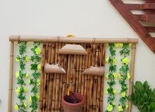 نافوره جداريه مصنوعه من البامبو