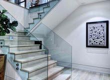 زجاج سكوريت تصميم عصري للسلالم