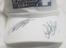 Golf cap. Rory Macilroy & Tommy Fleetwood Signed Authograph