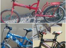 3 دراجات هوائيه مستعمل . بقيمه وحده  25ريال