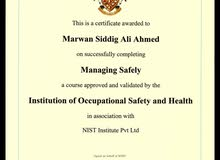 A Fire Engineer and Safety Management looking for job