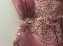 فستان طويل وردي