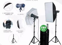 أستوديو Visico 400 w + طقم عاكس اضاءة + خلفية