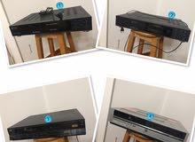 عدد 2 جهاز فيديو ( تلمصر، JVC)، وعدد 2 رسيفير بنجمين، مستعملين وشغلين ومركونيين للبيع
