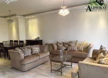 شقة دوبلكس جميلة اخير مع روف مفروشة للايجار في دابوق مساحة البناء 350 م ترس 150 م