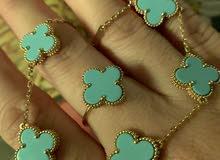 Vancleef 18k gold bracelet and ring