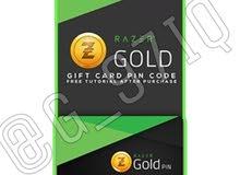 ريزر قولد Razer Gold ~ يتوفر لدينا رصيد ريزر قولد بااسعار تنافسية جداً