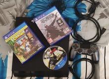 """""""2"""" PS4 + GAMES + CONTROLLER  للبيع عدد 2 بلاي ستيشن 4 مع 1 تحكم وثلاث ألعاب لكل جهاز"""
