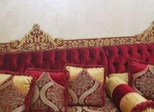 مجلس خشب مصري 10 امتار  مع ثلاثة طاولات