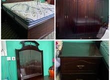Bedroom in good condition غرفة نوم خشب بحريني