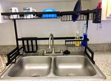 Dish Drying Rack Dish Drainer over sink, 2-Tier Large Capacity Dish Rack