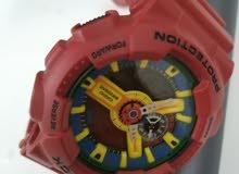 ساعة جي شوك للبيع مستعملة مرات بسيطة الساعة أصلية ماركة كاسيو.