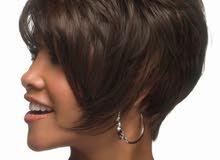 باروكة شعر مستعار أنيق ورقيق قصير للنساء بني بسعر 85 ريال