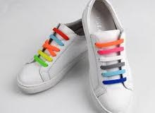 رباط حذا سليكون الباكت لون واحد ازرق فقط .