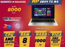 جيل خامس HP ENVY TS M6 اعلي من الكور I7 رمات 8 جيجا هارد 1000 العاب 2017 ,2016