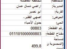 ارض 500 م للبيع في ابو نصير حوض اصهي الفقير