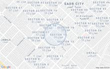 نصف قطعة للبيع مساحة 72 متر في مدينة الصدر