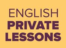 دروس تقوية لغة انكليزية لجميع المراحل وطلاب الجامعة