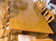 ميز طعام 8 مقاعد جديد مستعمل شهر