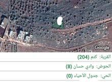 للبيع  اراضي  كتم  حوض  وادي  حسان  على   U   مساحة  الارض  564  متر مطله  مرتفع