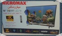 شاشة تلفزيون 50بوصة مايكروماكس ضمان سنه جديد ولم تستخدم