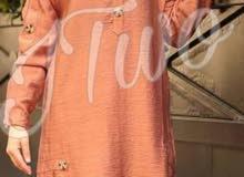 قميص طويل لينن كم نفخ  بلبس من 38 لل 44 قياس  7  الوان
