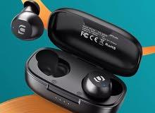 سماعات بلوتوث رياضية لاسلكية ذكية مقاومة للماء تعمل باللمس بلون أسود من يوجرين