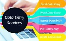 ادخال بيانات بسرعة فائقة واسعار رمزية (MO-Word MO-Excel)