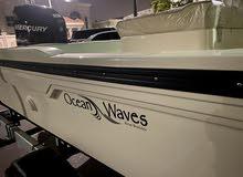 قارب اوشن ويف 2021محرك 225 اوبتماكس جديد