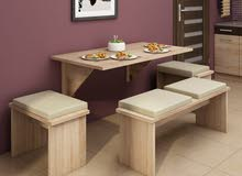 Wooden Ikea wall mounted table