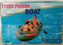 قارب قابل للنفخ يسع 3 اشحاص