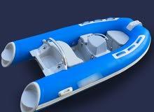 قارب مطاطي ارضية فايبر Inflarable Rib Boat