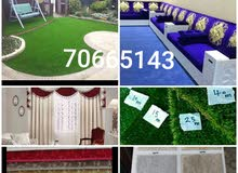 we have artificial  grass carpet  and Turkey  carpet  asle & fixing