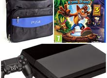 ps4 in good condition with bag and CD crash