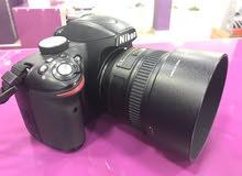 كاميرة نيكون d3200 مع عدستين