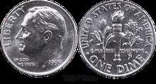 قطعة نقدية أمريكية من فئة وان دايم