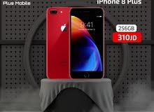 ايفون 8بلس 256 جيجا مستعمل بحالة الجديد+كفالة سنة بسعر مغري