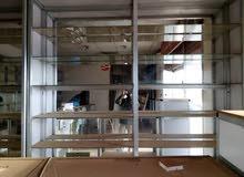 رفوف المونيوم35 متر للمحلات التجاريه
